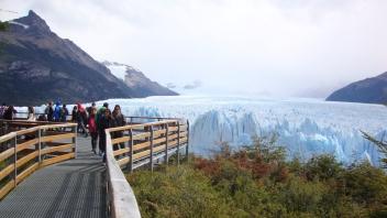 Passarelas de observação do Perito Moreno.
