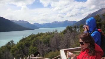 Vista para o Lago Argentino.