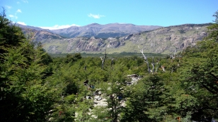 Vista do vale do Rio de las Vueltas